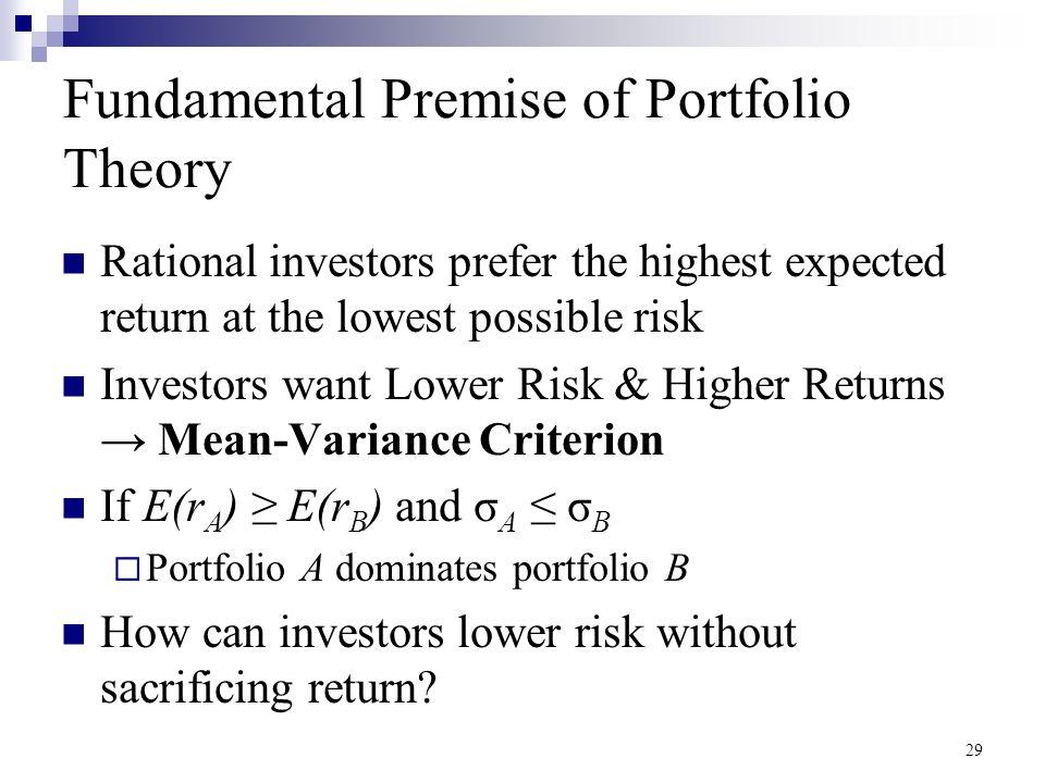 mean variance portfolio theory pdf