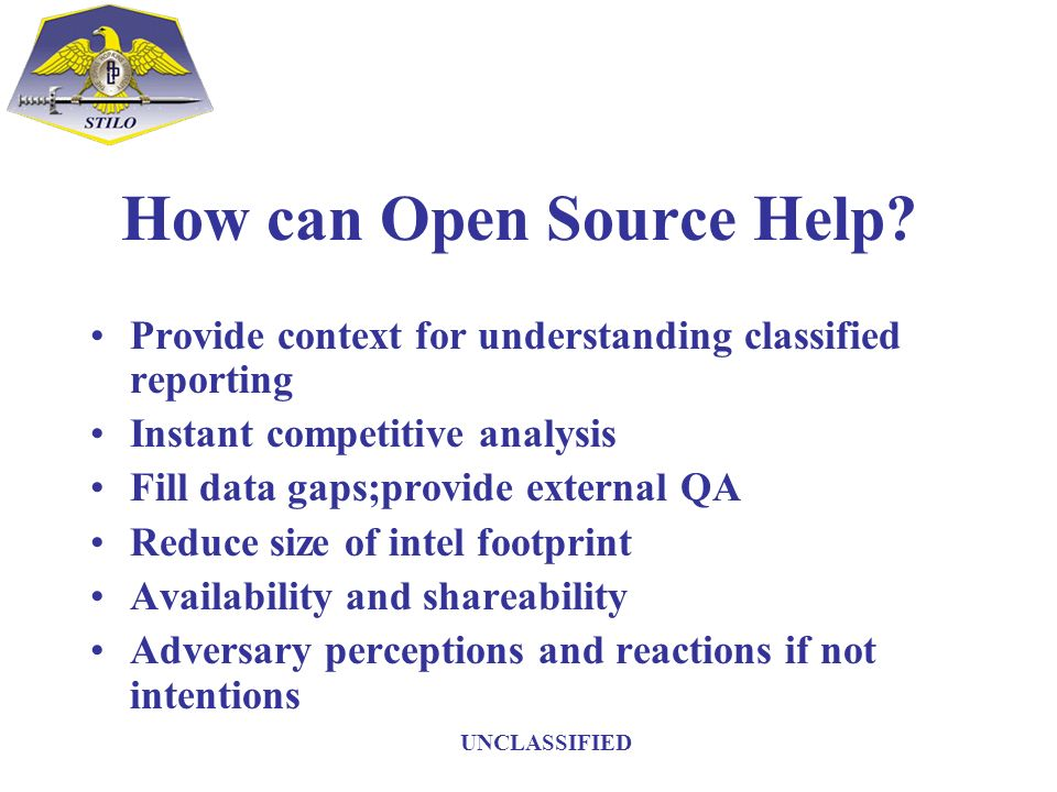 How can Open Source Help