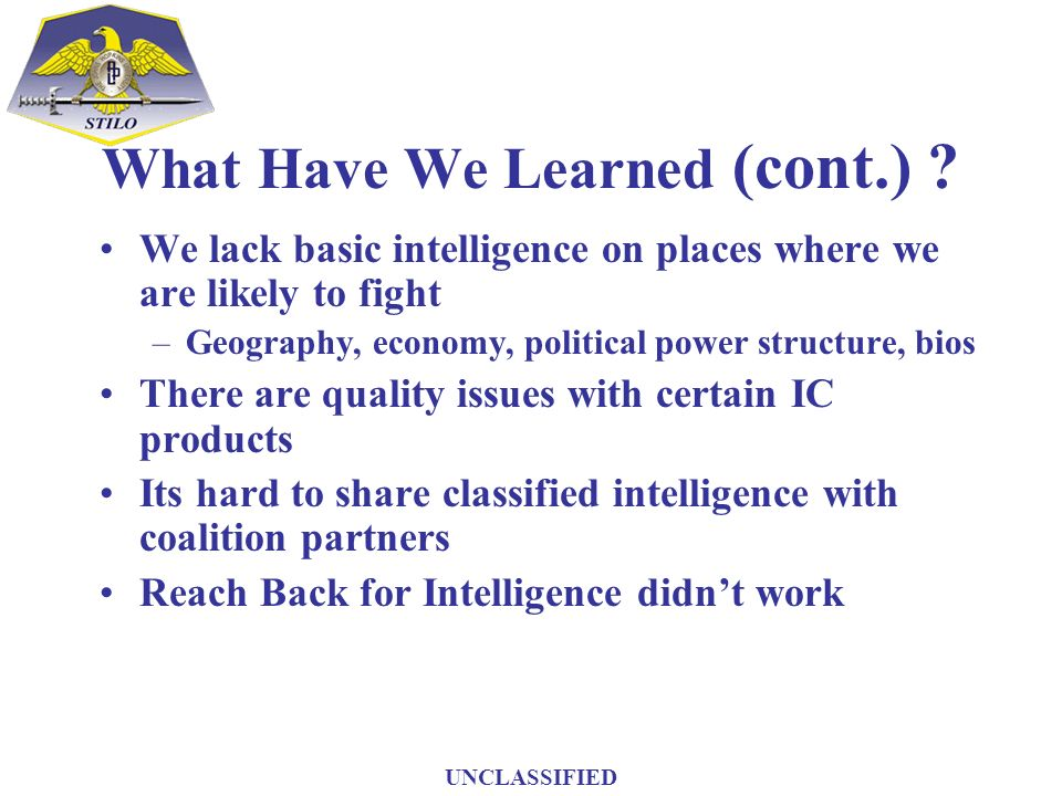 What Have We Learned (cont.)
