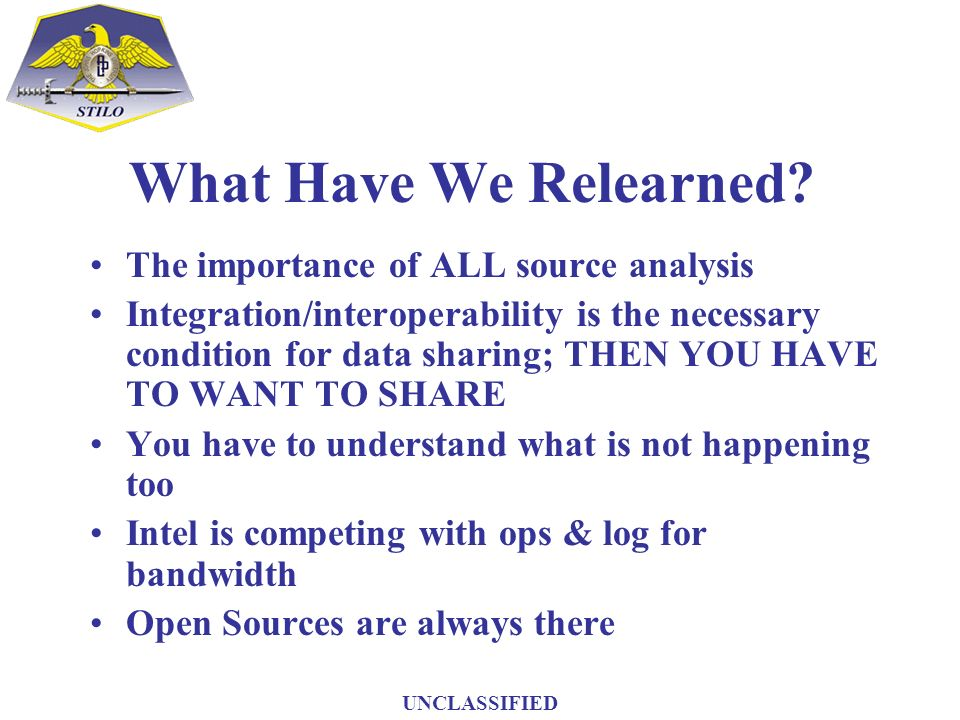 What Have We Relearned The importance of ALL source analysis