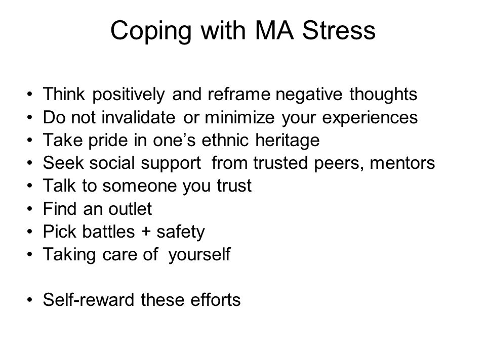 A reframed approach in dealing with stress