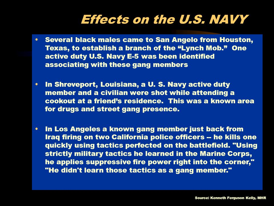 Effects on the U.S. NAVY