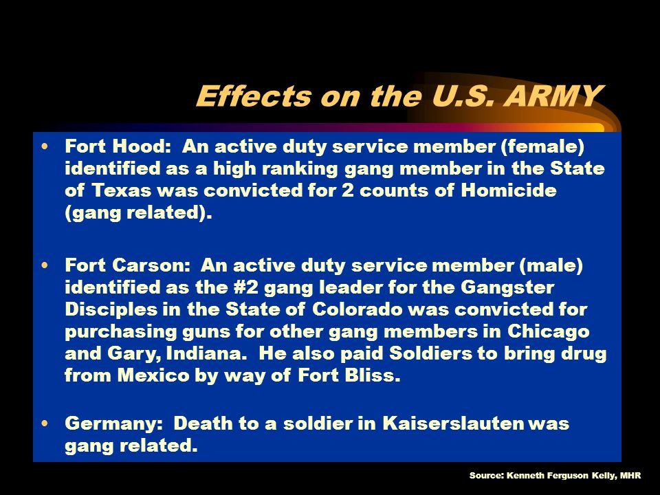 Effects on the U.S. ARMY