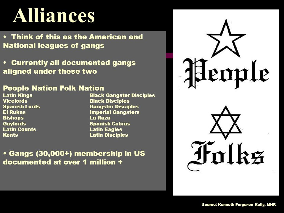 Alliances Think of this as the American and National leagues of gangs
