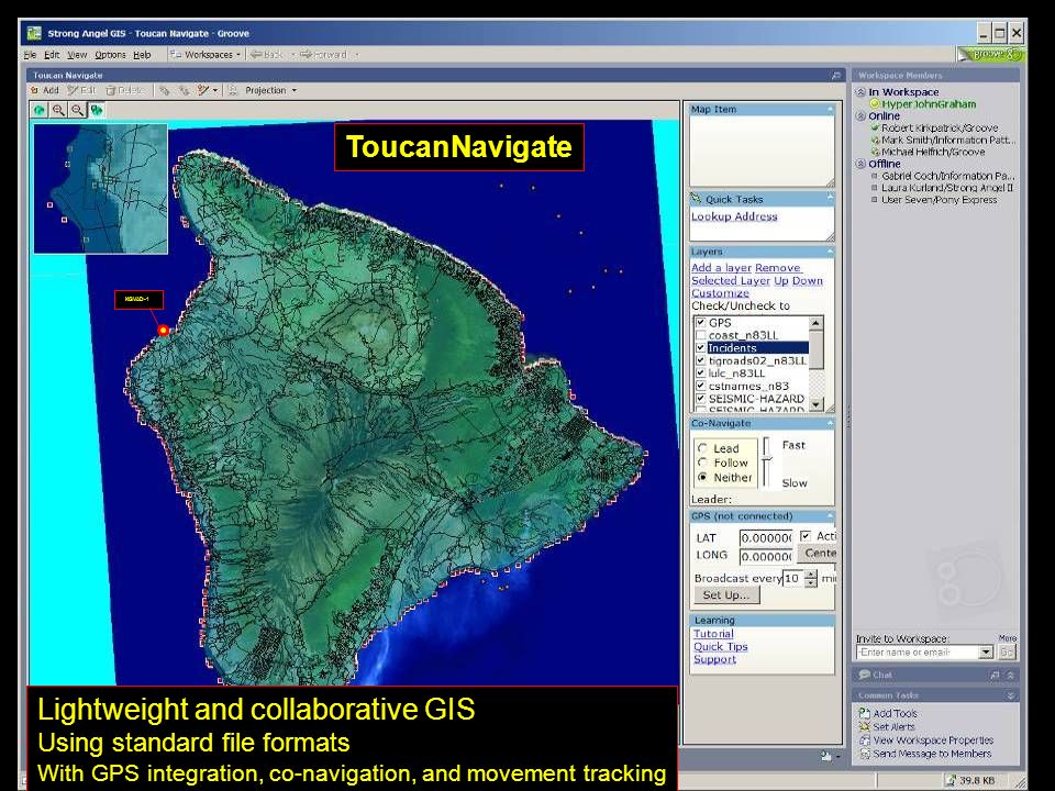 Lightweight and collaborative GIS