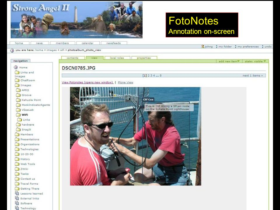 FotoNotes Annotation on-screen