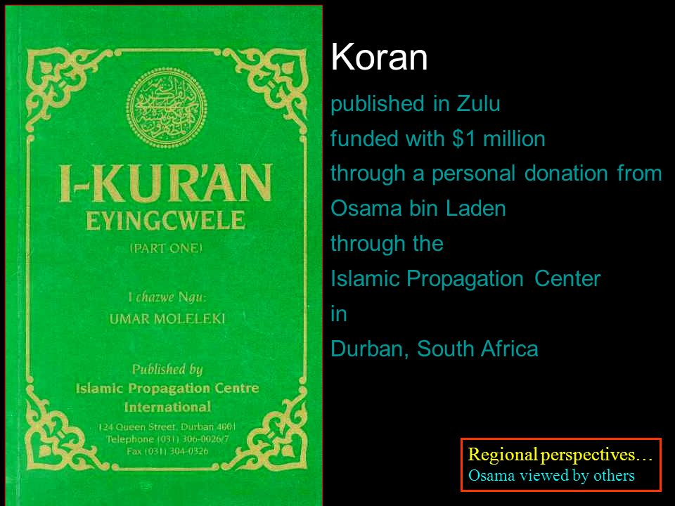 Koran published in Zulu funded with $1 million