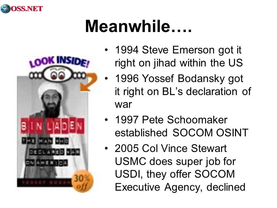 Meanwhile…. 1994 Steve Emerson got it right on jihad within the US