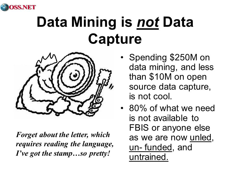Data Mining is not Data Capture