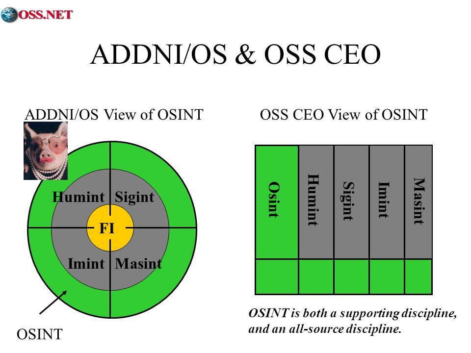 ADDNI/OS & OSS CEO ADDNI/OS View of OSINT OSS CEO View of OSINT Humint