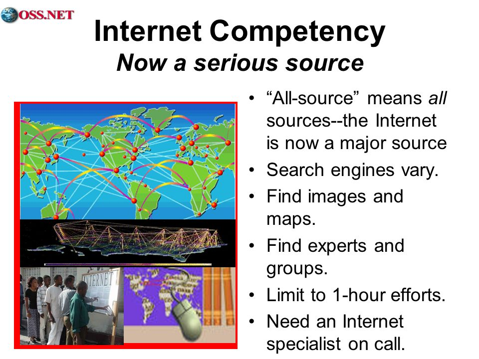 Internet Competency Now a serious source