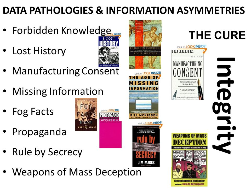 Integrity DATA PATHOLOGIES & INFORMATION ASYMMETRIES