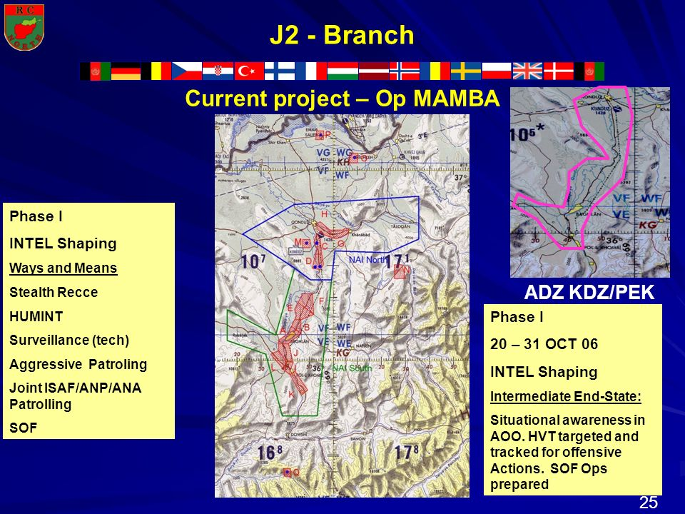 Current project – Op MAMBA