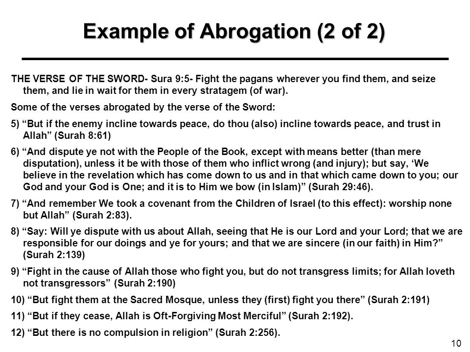 Example of Abrogation (2 of 2)