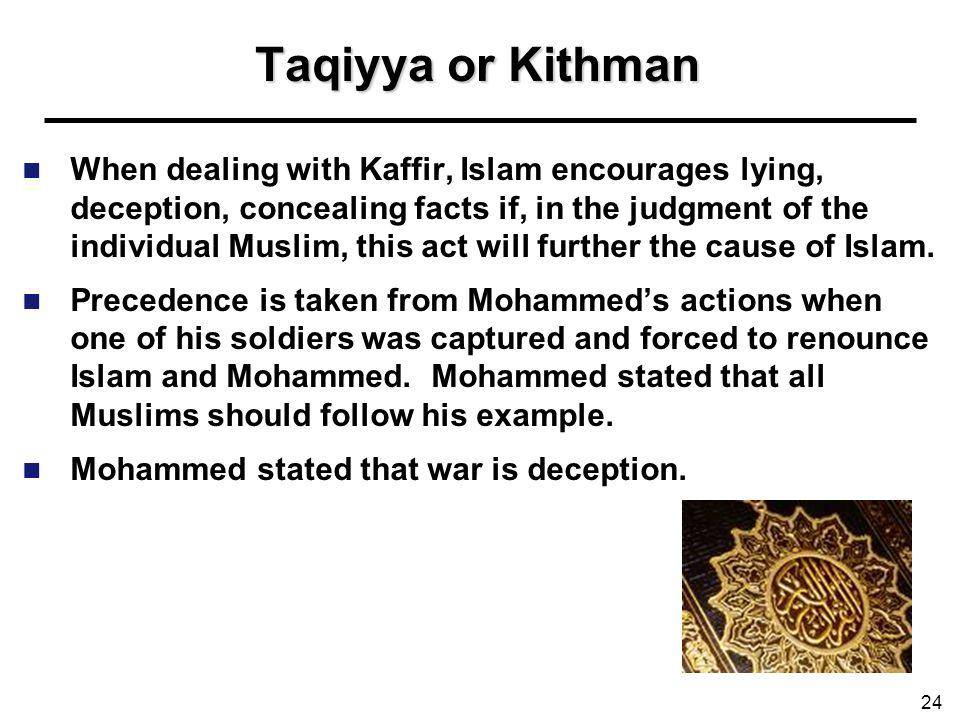 Taqiyya or Kithman