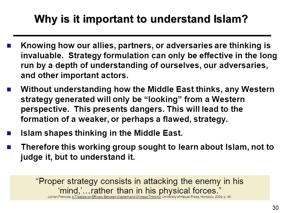 Why is it important to understand Islam