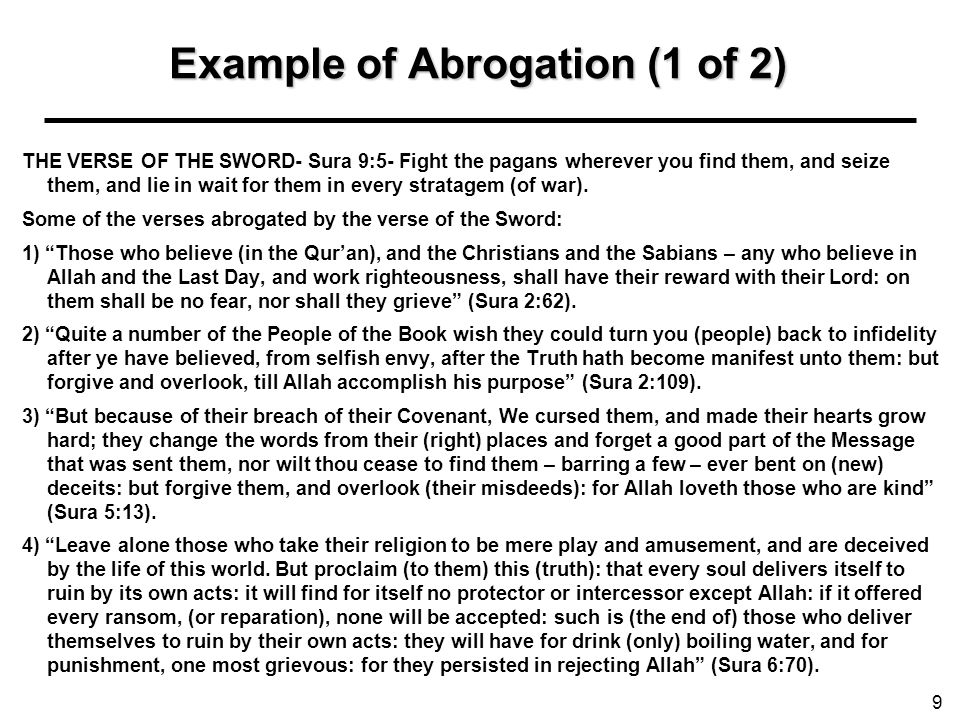 Example of Abrogation (1 of 2)