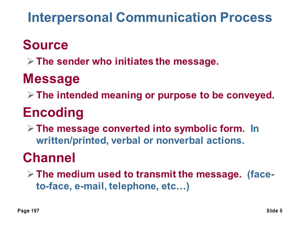 understanding the communication process in the The process by which one person or a group of persons receive an increment of information which has some value for either sender or receiver either by way of.