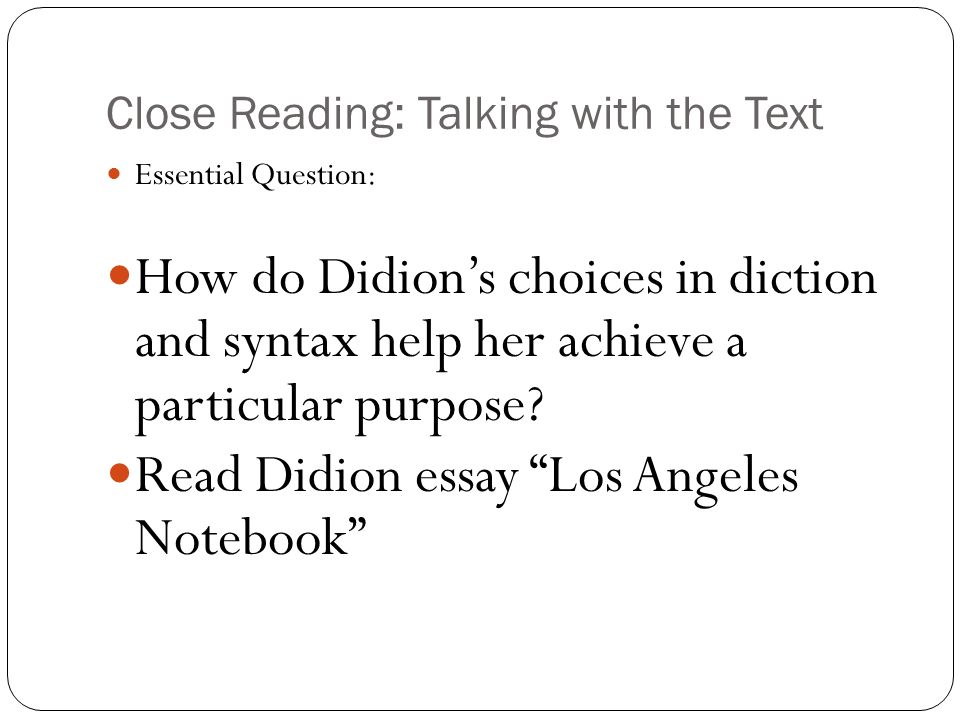 los angeles notebook by didion essay Brain pickings remains free  and the value of keeping a notebook joan didion by julian wasser  didion quotes from the 1971 book los angeles:.