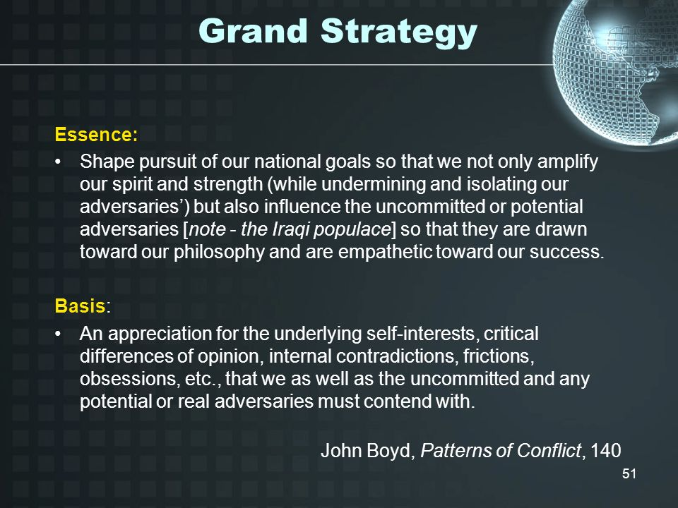 Grand Strategy Essence: