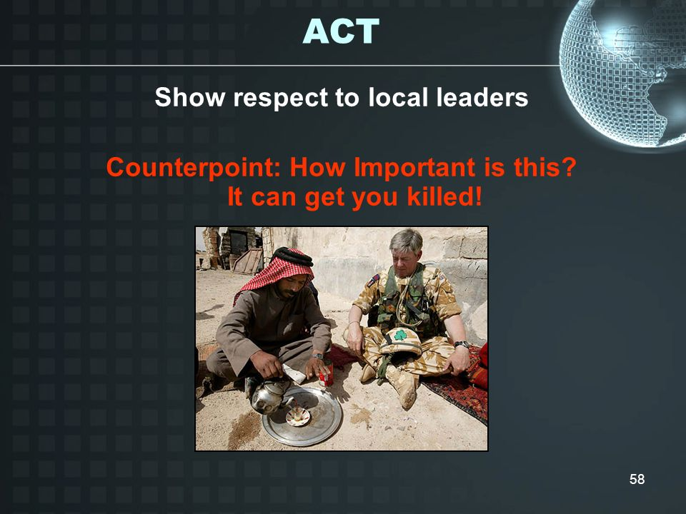 ACT Show respect to local leaders