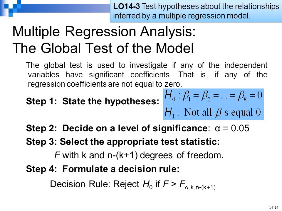 multiple regression Printer-friendly version introduction in this lesson, we make our first (and last) major jump in the course we move from the simple linear regression model with one predictor to the multiple linear regression model with two or more predictors.