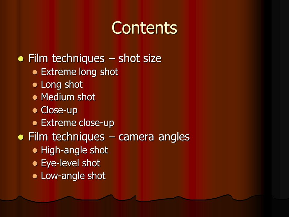 film techniques camera shots and angles ppt video online