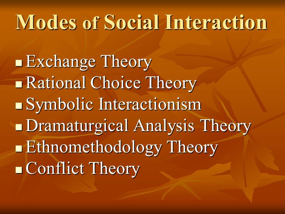 ethnomethodology and interactionism Keywords: history of canadian sociology symbolic interactionism institution-  alization  some variety of non-si interpretive theory (eg ethnomethodology) in.