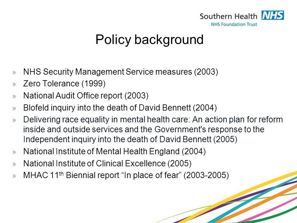inquiry into the death of david bennett 1 annex a recommendations from the inquiry into the death of david bennett:.
