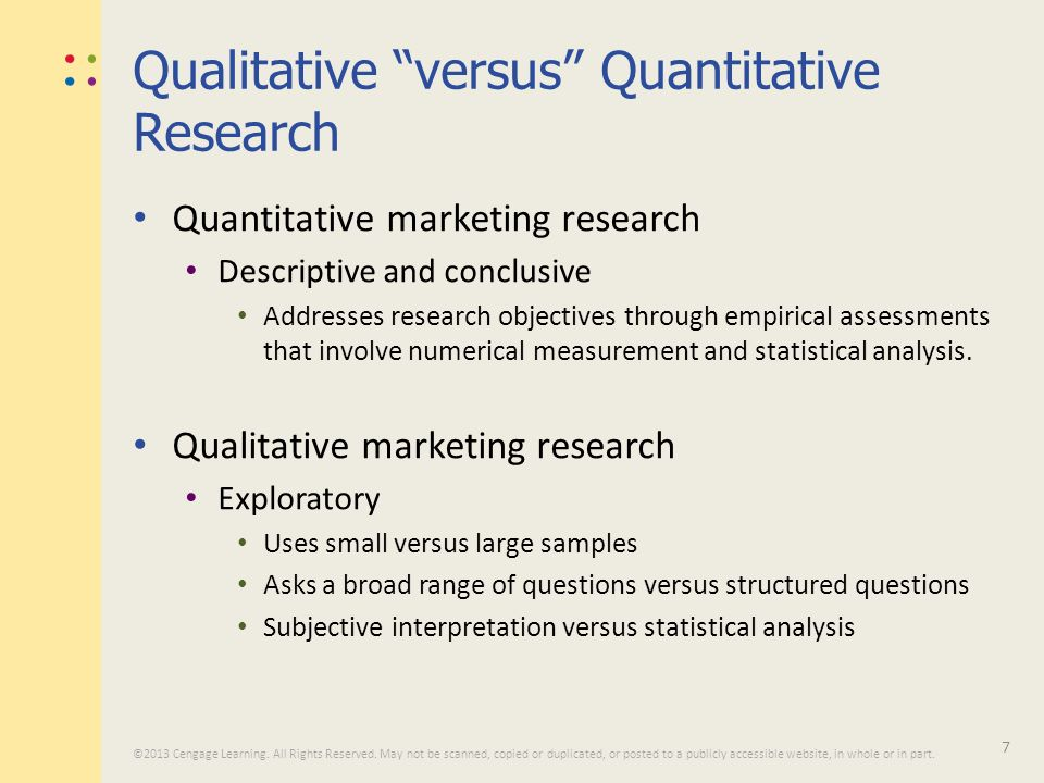 mcdonalds quantitative and qualitative marketing objectives In this assignment i will be describing how marketing research is used in mcdonalds   you can claim questions at your research objectives  quantitative.