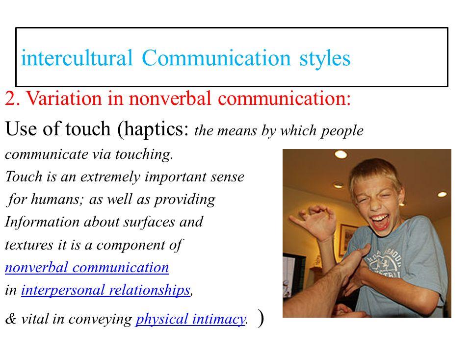 haptics nonverbal communication