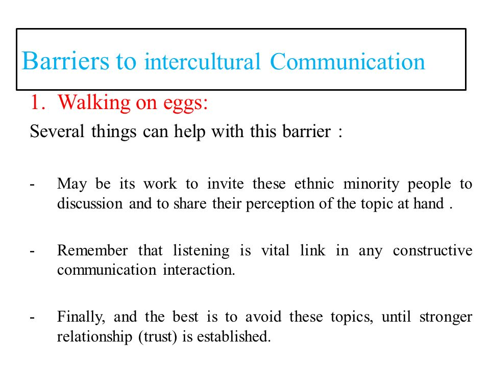 barriers to intercultural communication essay Open document below is an essay on barriers to intercultural communication from anti essays, your source for research papers, essays, and term paper examples.
