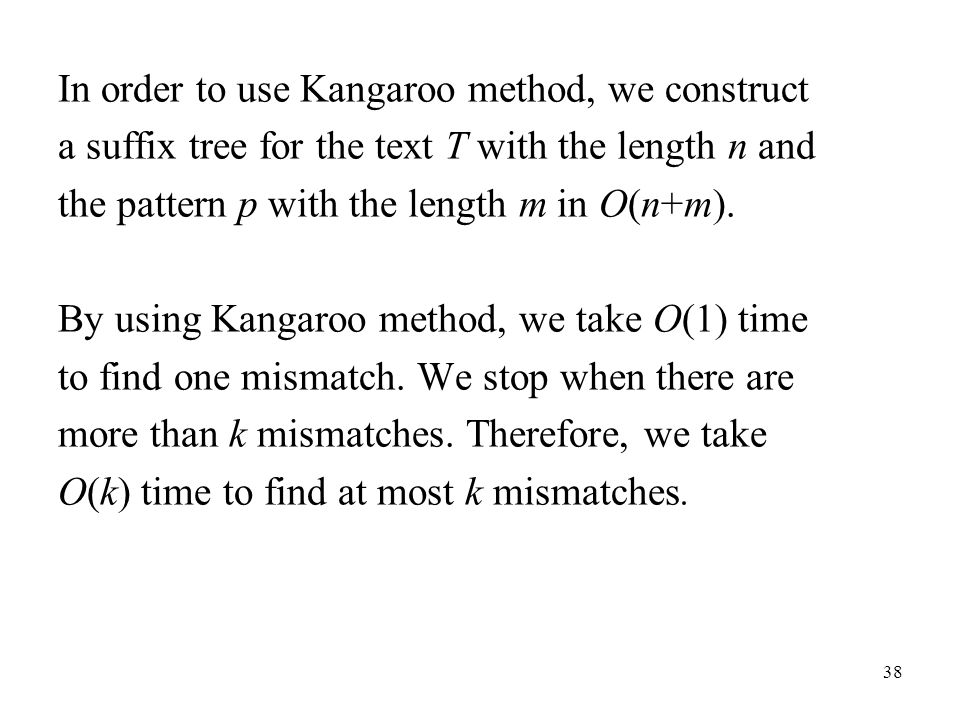 In order to use Kangaroo method, we construct