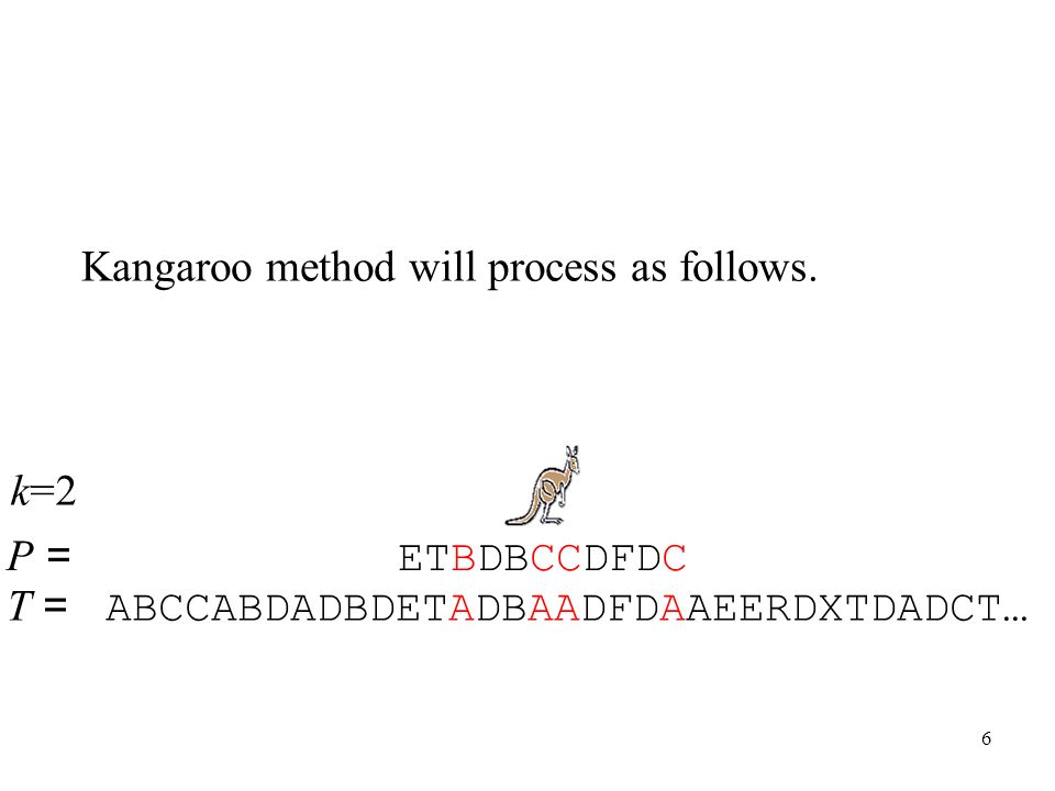 Kangaroo method will process as follows.