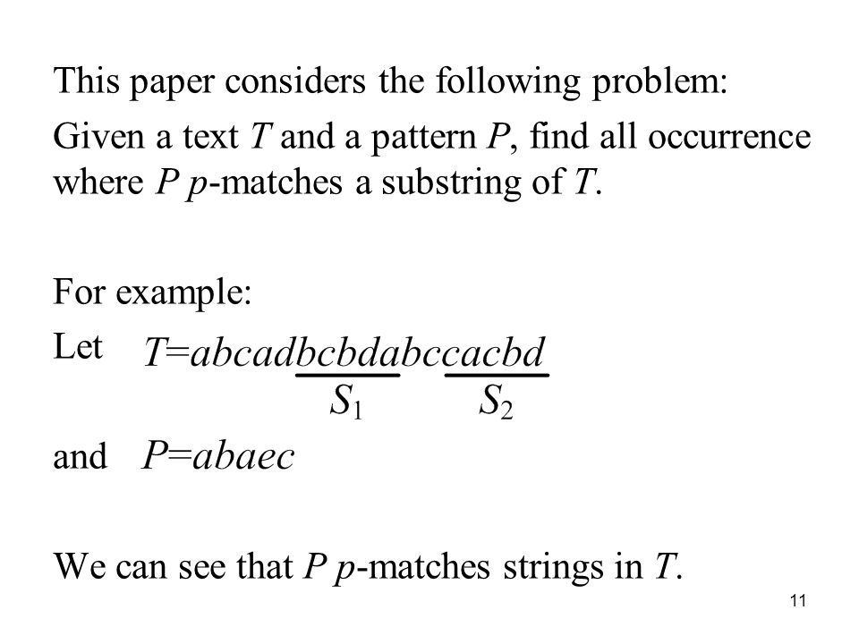 This paper considers the following problem: