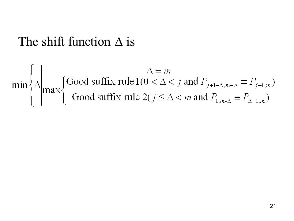 The shift function ∆ is