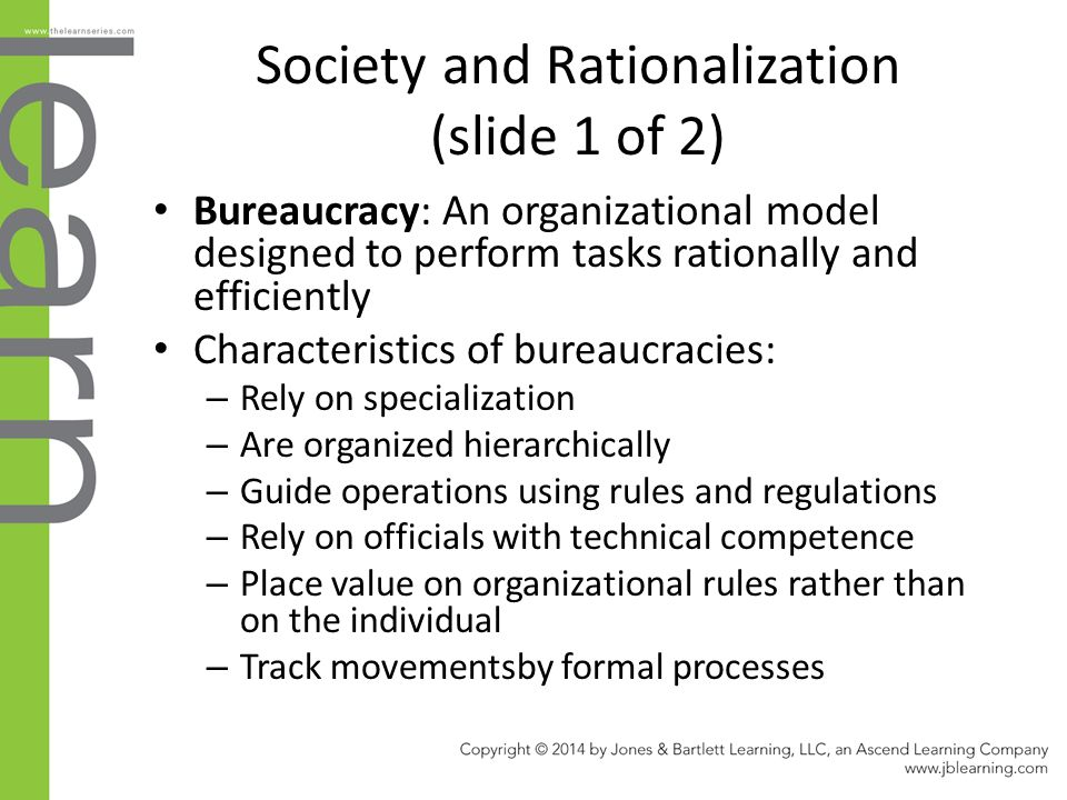 Chapter 4 society social structure and social for 6 characteristics of bureaucracy
