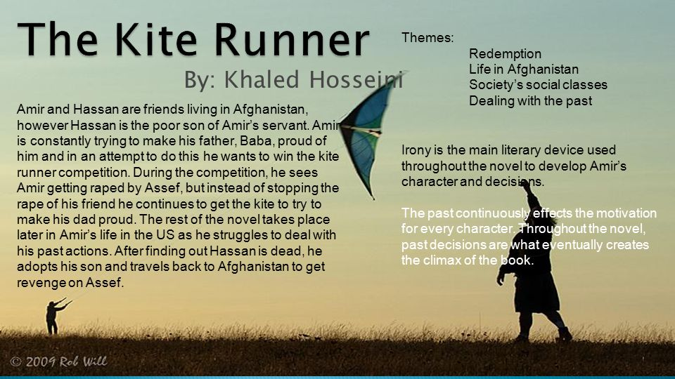 ap literature composition quarterly independent novel project  22 the kite runner by khaled hosseini themes redemption