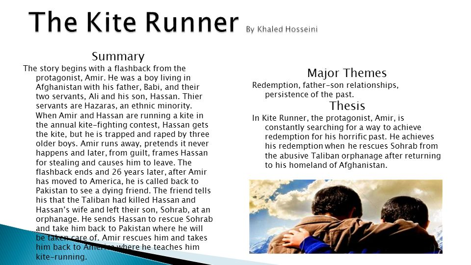 essays on the kite runner redemption Kite runner redemption essay - all sorts of writing services & custom essays top affordable and professional academic writing aid get a 100% original, plagiarism.