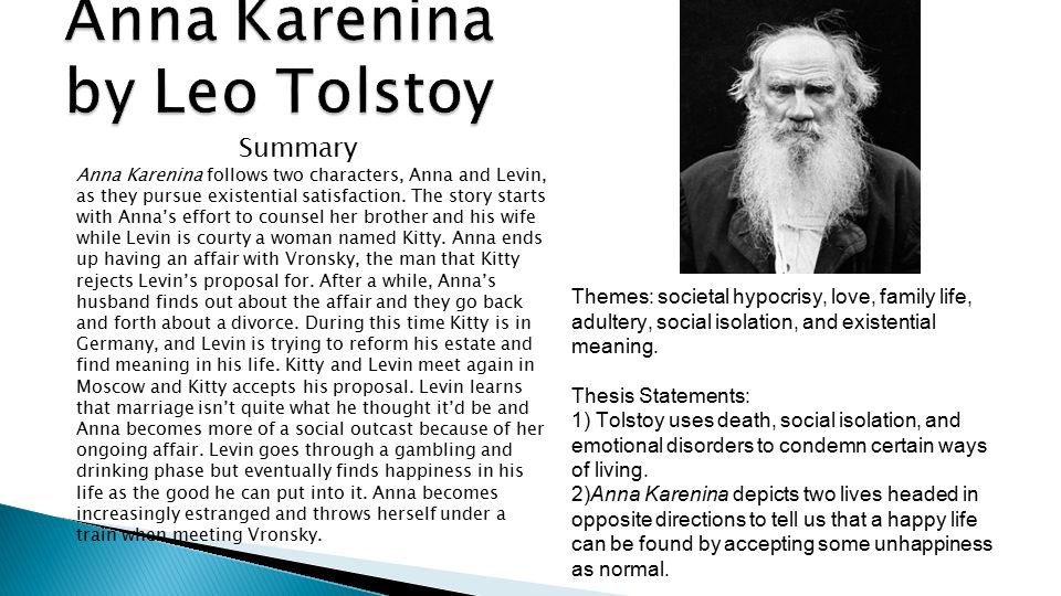 symbolism of trains in novel anna karenina by leo tolstoy Anna karenina by leo tolstoy and made observations about the heating of the train anna and took from her bag a paper knife and an english novel.