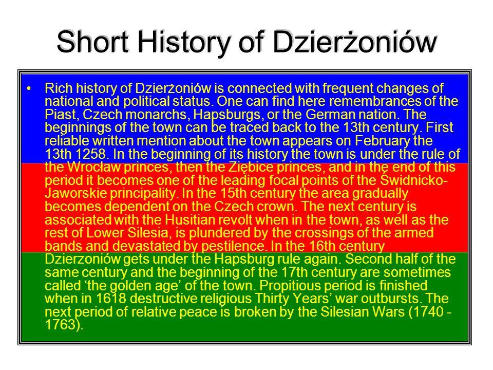 Short History of Dzierżoniów