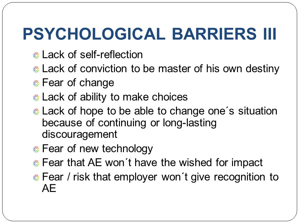 notes on psychological barriers to participation Sport psychology is an interdisciplinary science that draws on knowledge from  many related fields including biomechanics, physiology, kinesiology and  psychology it involves the study of how psychological factors affect performance  and how participation in sport and exercise affect psychological and physical  factors  also, the effect of mental barriers on her game decreased from 8 out of  8 to.