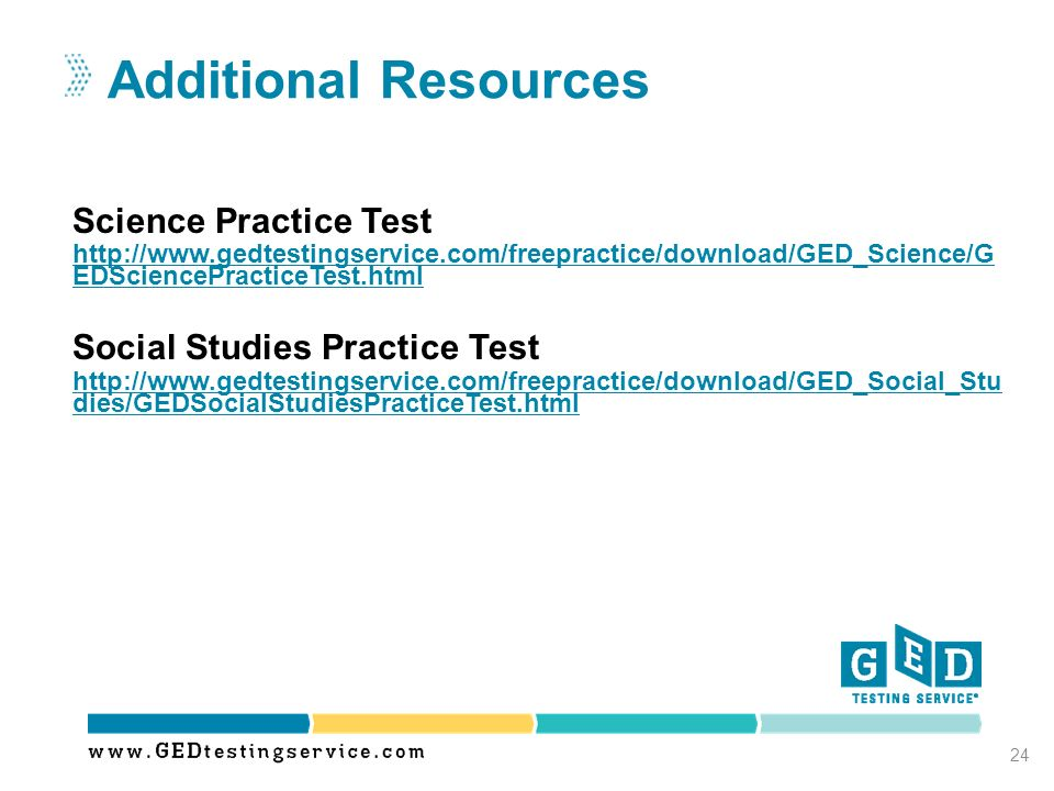Additional Resources Science Practice Test