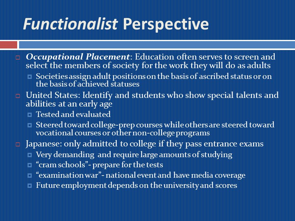 functionalist perspective on disability Functionalist perspective sociological perspective in a disability sport inquiry a study of socialization into wheelchair basketball is used to show how the.