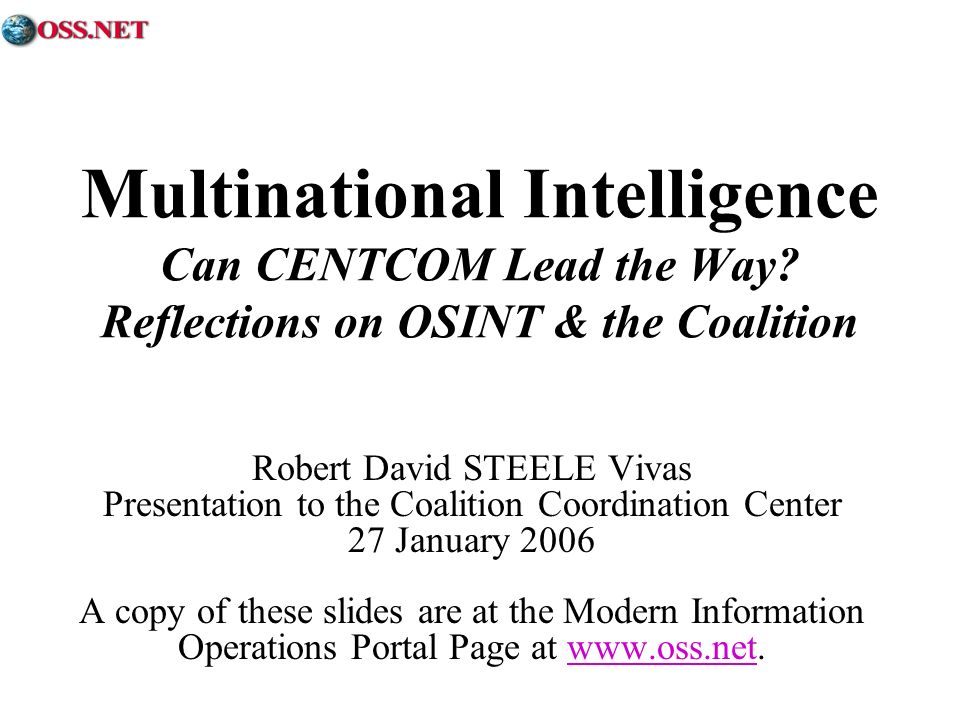 Multinational Intelligence Can CENTCOM Lead the Way