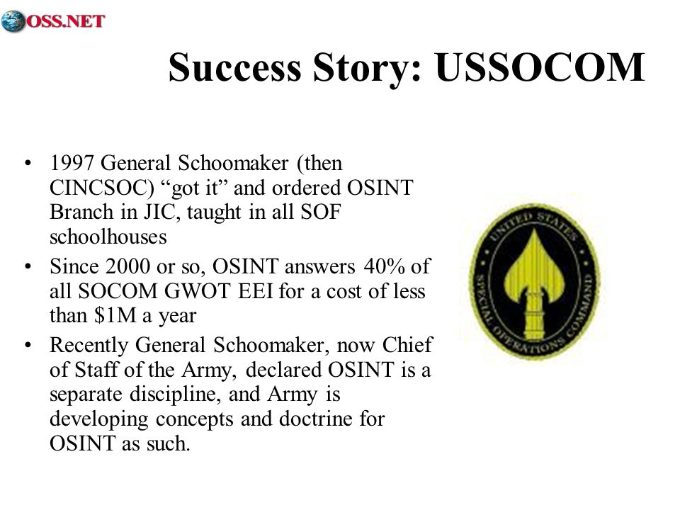 Success Story: USSOCOM
