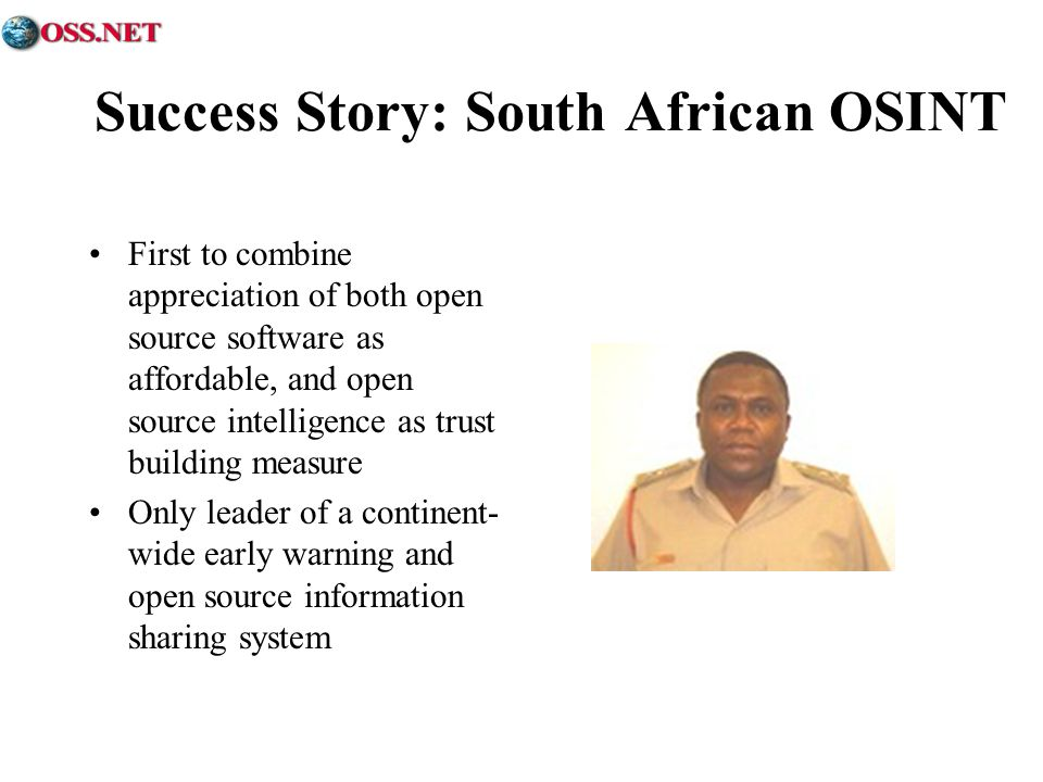 Success Story: South African OSINT