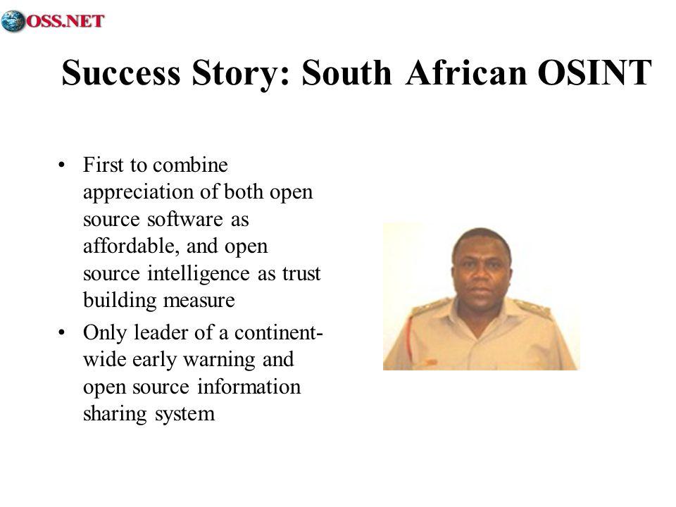 Success Story: South African OSINT