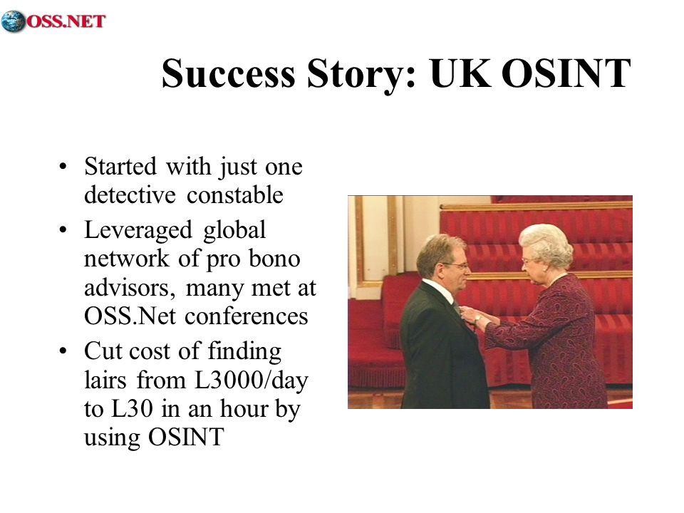 Success Story: UK OSINT