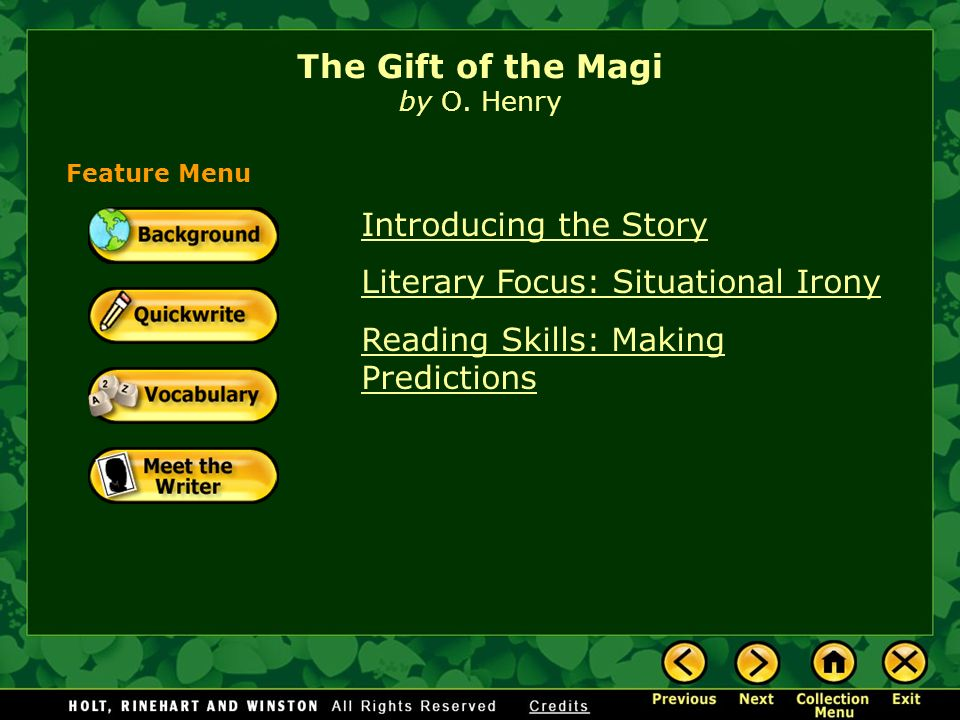 the gift of the magi theme